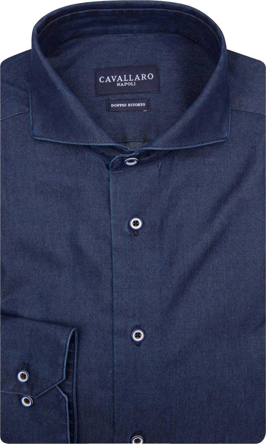 Cavallaro Overhemd Jeans Klein Kleding Denim Heren WHIDbeE29Y