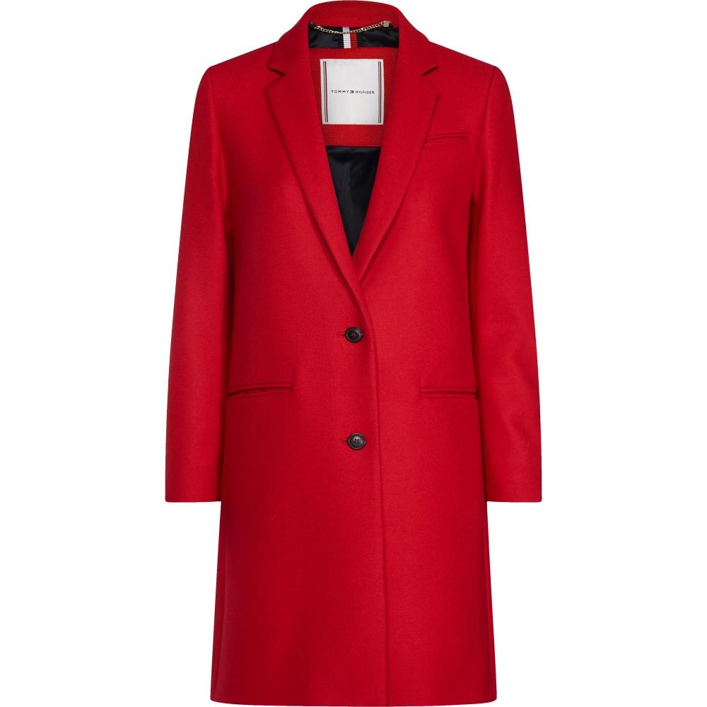 New York om te kopen kwaliteit Tommy Hilfiger Dames Jas WW0WW26378 BELLE WOOL BLEND CLASSIC ...